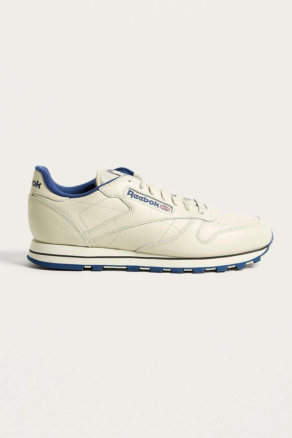 Reebok Classic Cream Leather Trainers - Mens Uk 12 in White for Men ... 4d65d8072