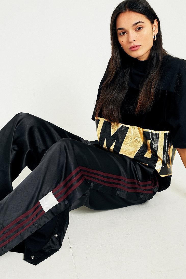 79d71b395bb0 adidas Originals Adibreak Black 3-stripe Popper Track Trousers in ...
