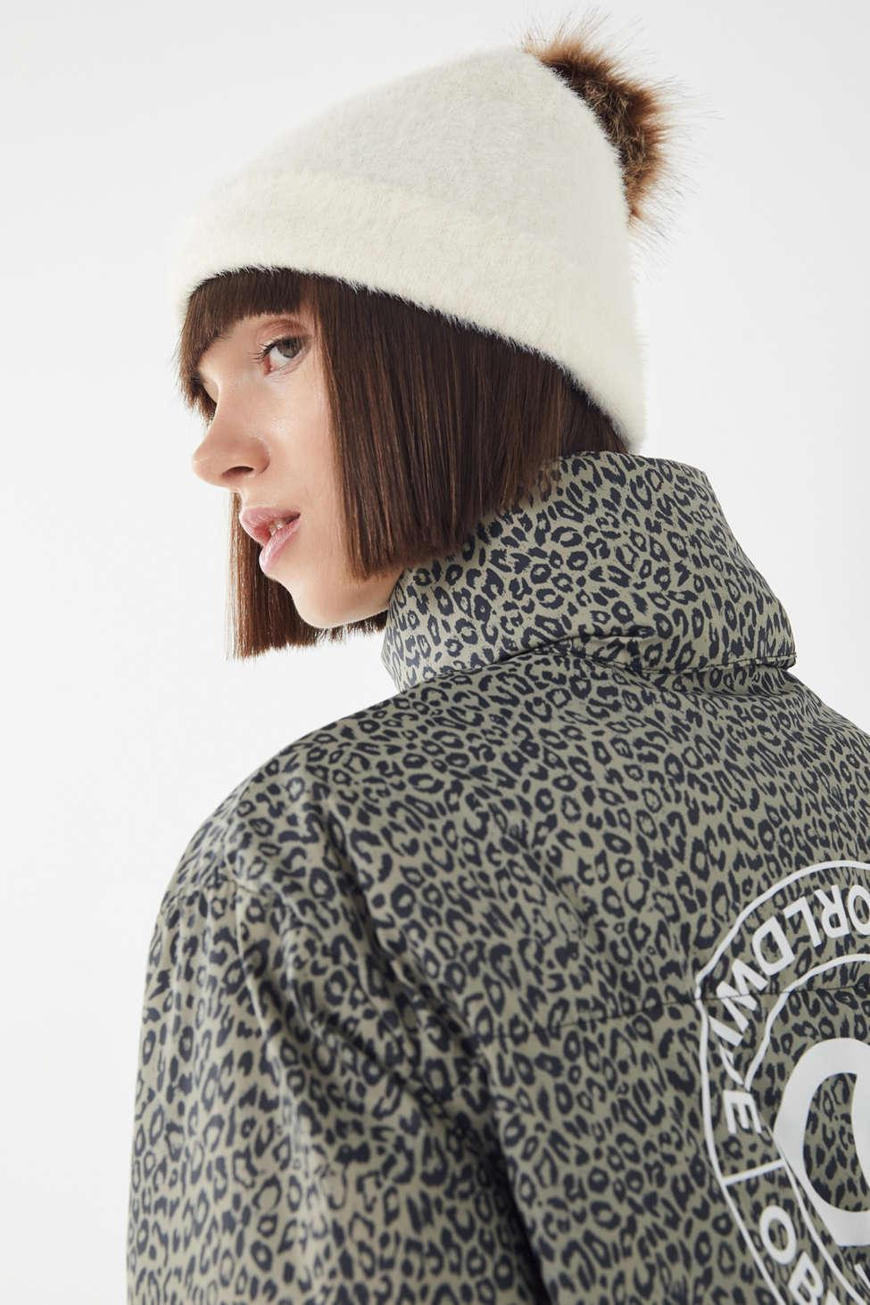 4466be942 Lyst - Urban Outfitters Fuzzy Furry Pompom Beanie in Natural