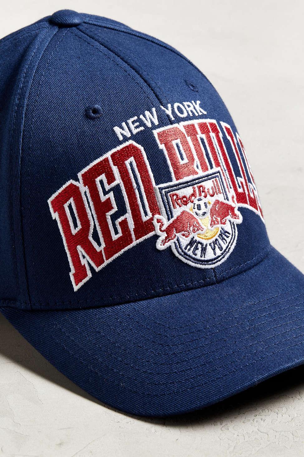 d782ff7c1bb Mitchell   Ness - Black New York Red Bulls Flex Fit Baseball Hat for Men -.  View fullscreen