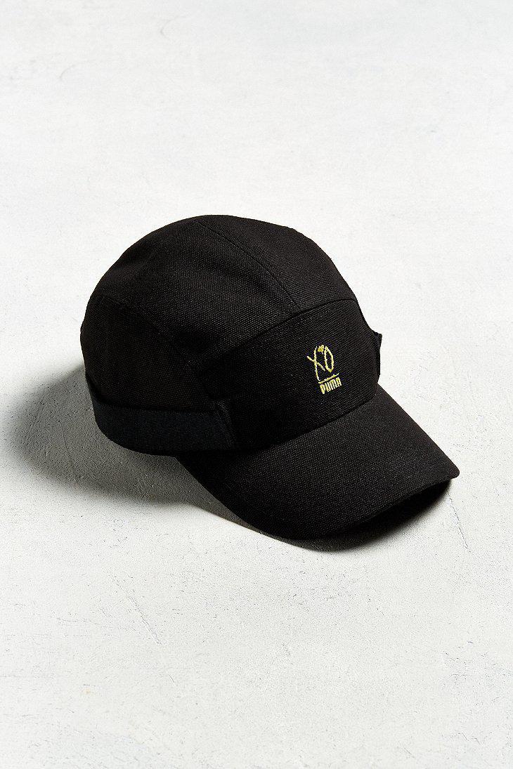 buy popular f4b21 4bdf8 PUMA Puma Xo The Weeknd 5-panel Hat in Black for Men - Lyst