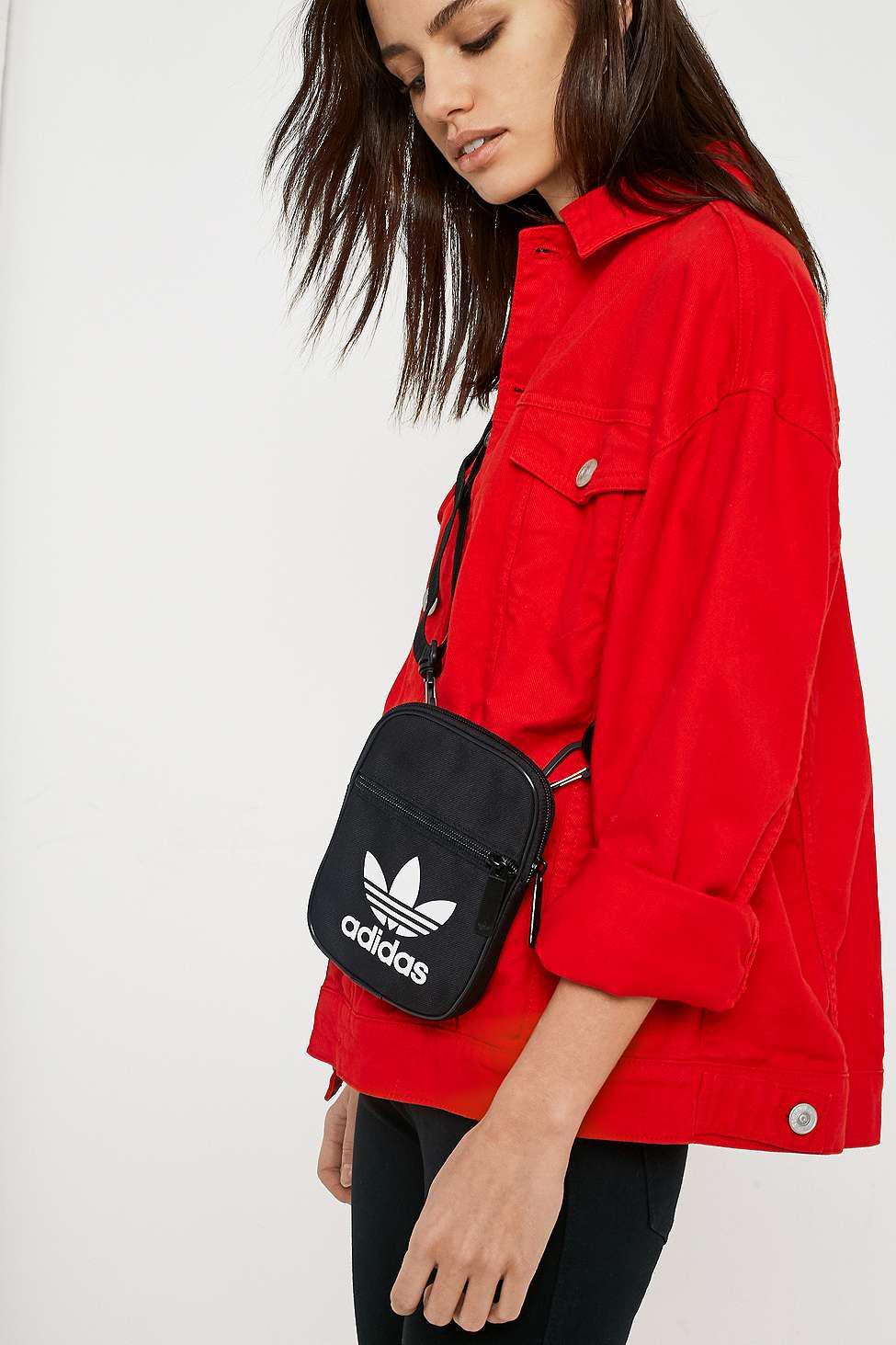 0a89df4d28 adidas Originals Trefoil Festival Crossbody - Womens All in Black - Lyst