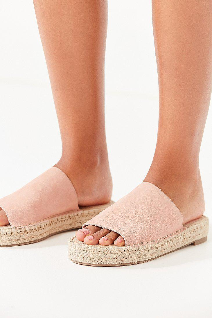 58d303fdfac6 Lyst - Urban Outfitters Mimi Espadrille Slide in Pink