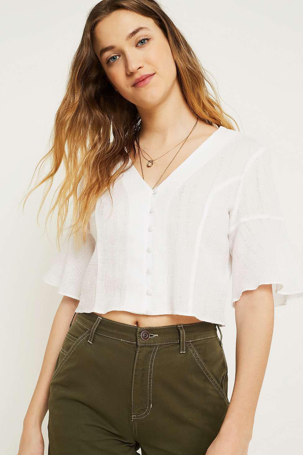 d7c37e5badf892 Urban Outfitters Uo Daydream White Blouse - Womens L in White - Lyst
