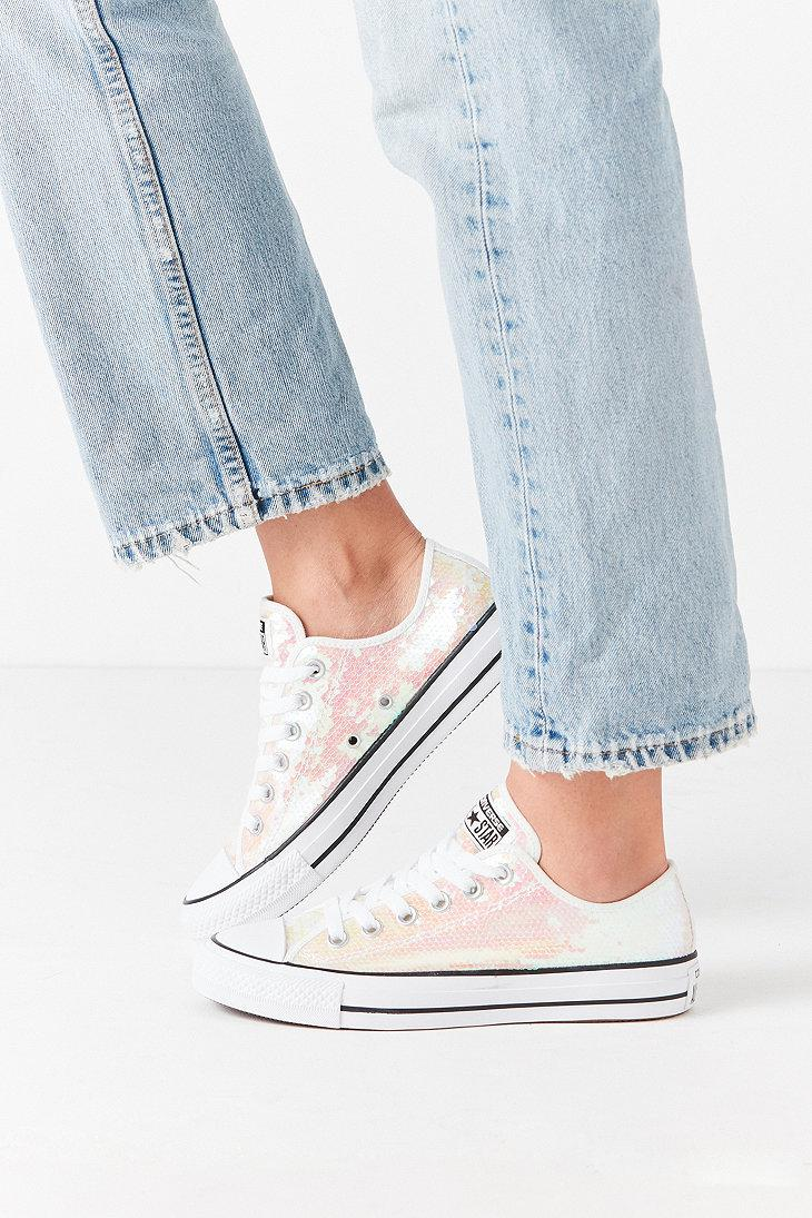 f8ed0be6237edd Converse All-star Holographic Sequin Low Top Trainers - Lyst