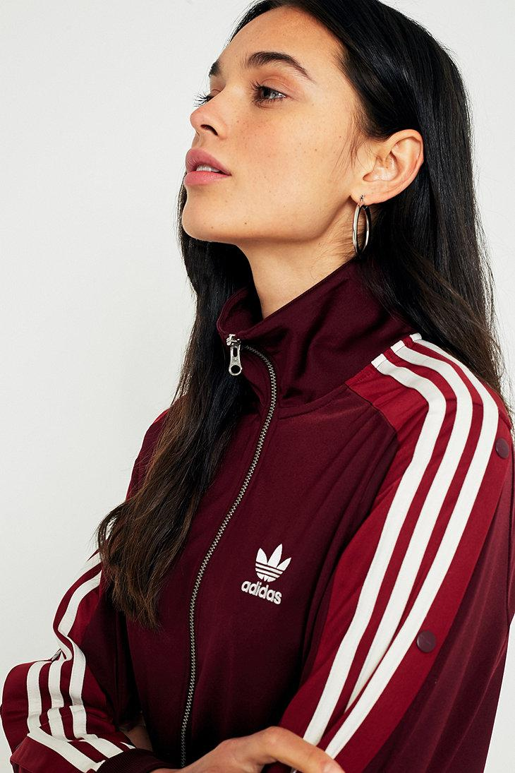 6c80415237f8 adidas Originals Adibreak 3-stripe Popper Track Jacket in Red - Lyst