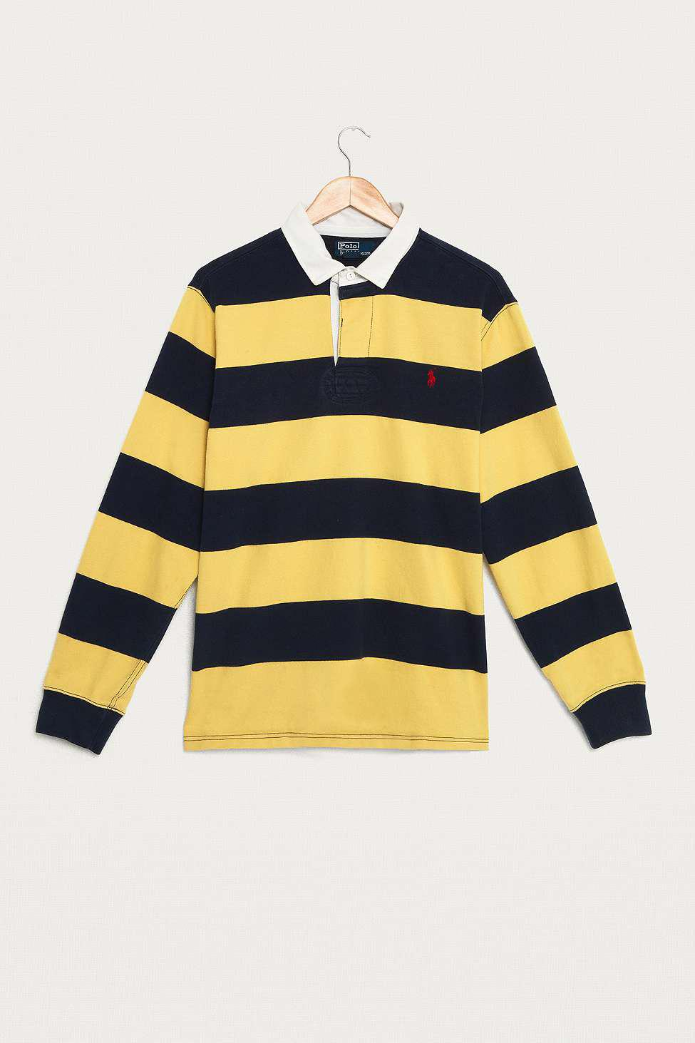 76117ca7ba17a Urban Renewal Vintage One-of-a-kind Ralph Lauren Yellow And Navy ...