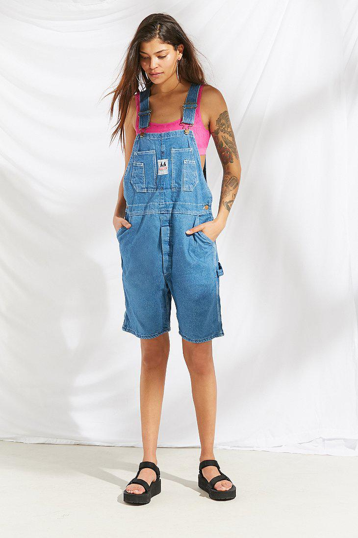 9a4841b080 Lyst - Urban Outfitters Vintage  90s Slouchy Shortall Overall in Blue