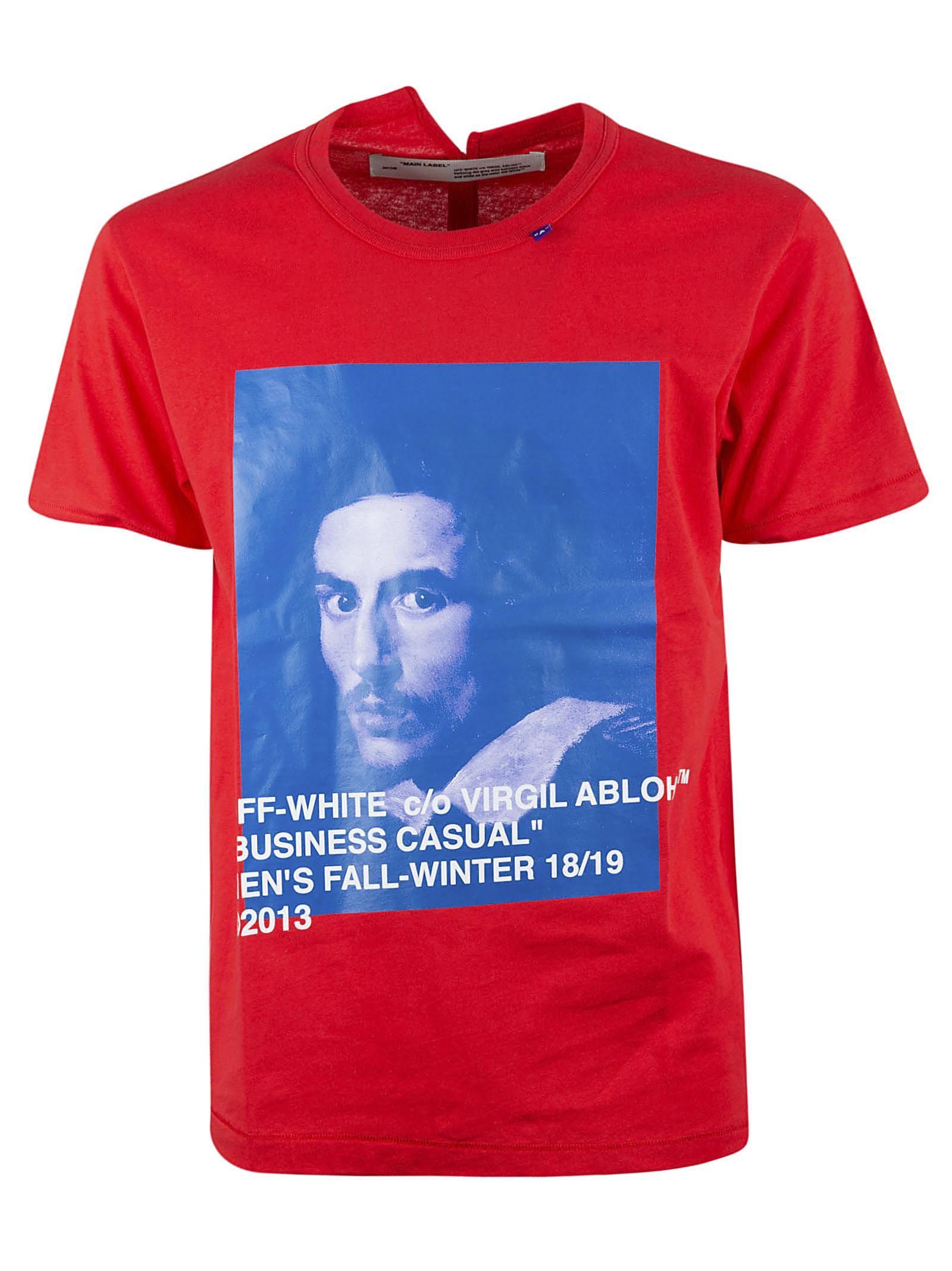 458e1cfa Off-White c/o Virgil Abloh T-shirt Bernini Red in Red for Men - Lyst