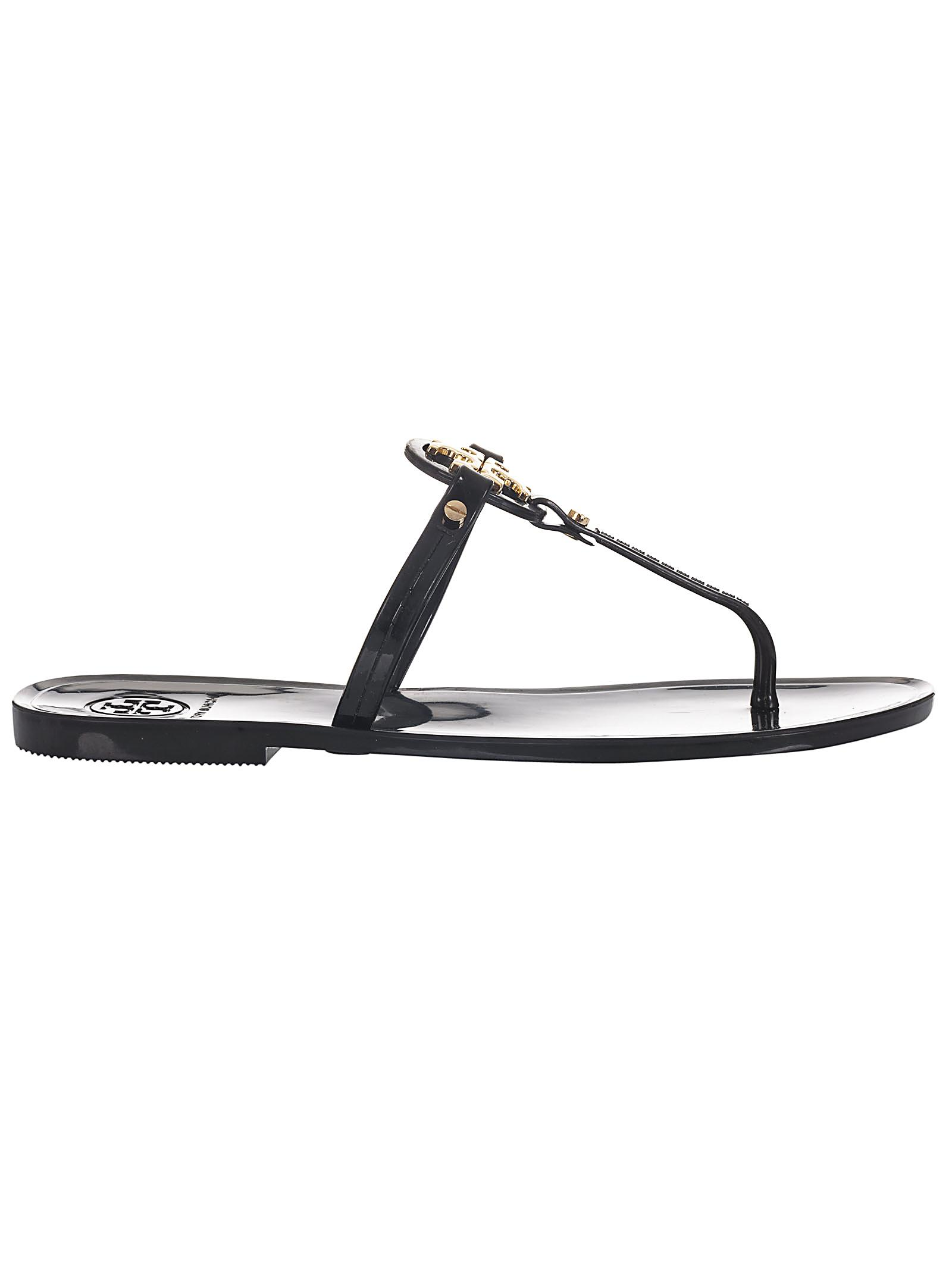 15b16761a Lyst - Tory Burch Mini Miller Flat Thong in Black