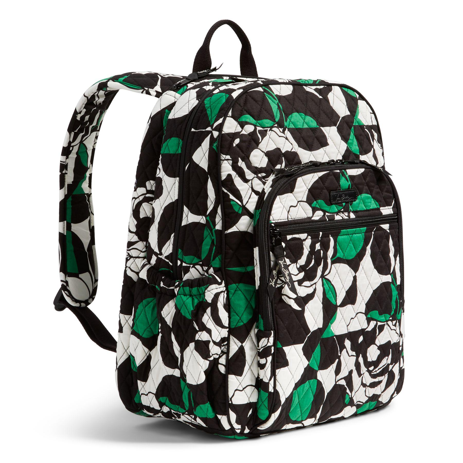 b8731f7d4d2d Lyst - Vera Bradley Campus Laptop Backpack in Green