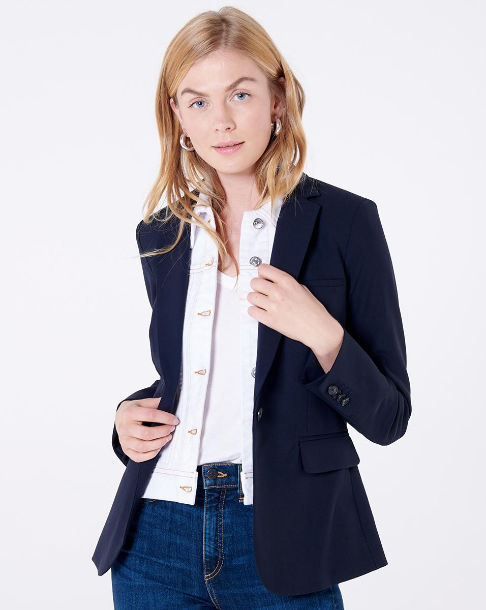 e16d057b177 Lyst - Veronica Beard Classic Dickey Jacket With Slate Dickey in Blue