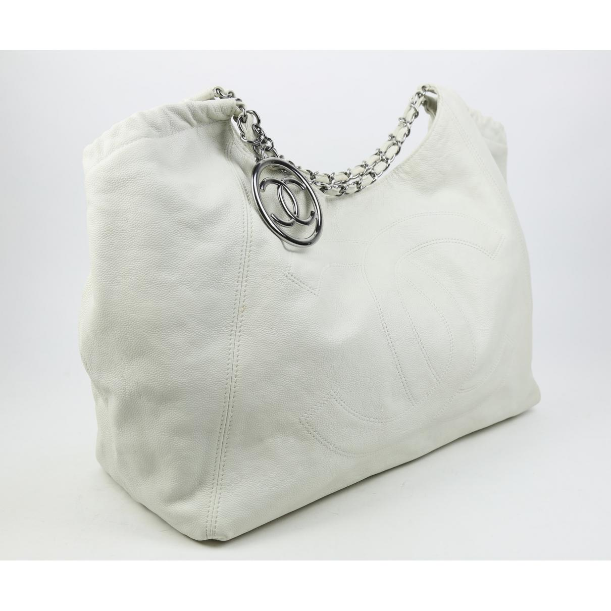 f17b093ca Chanel - White Coco Cabas Leather Tote - Lyst. View fullscreen