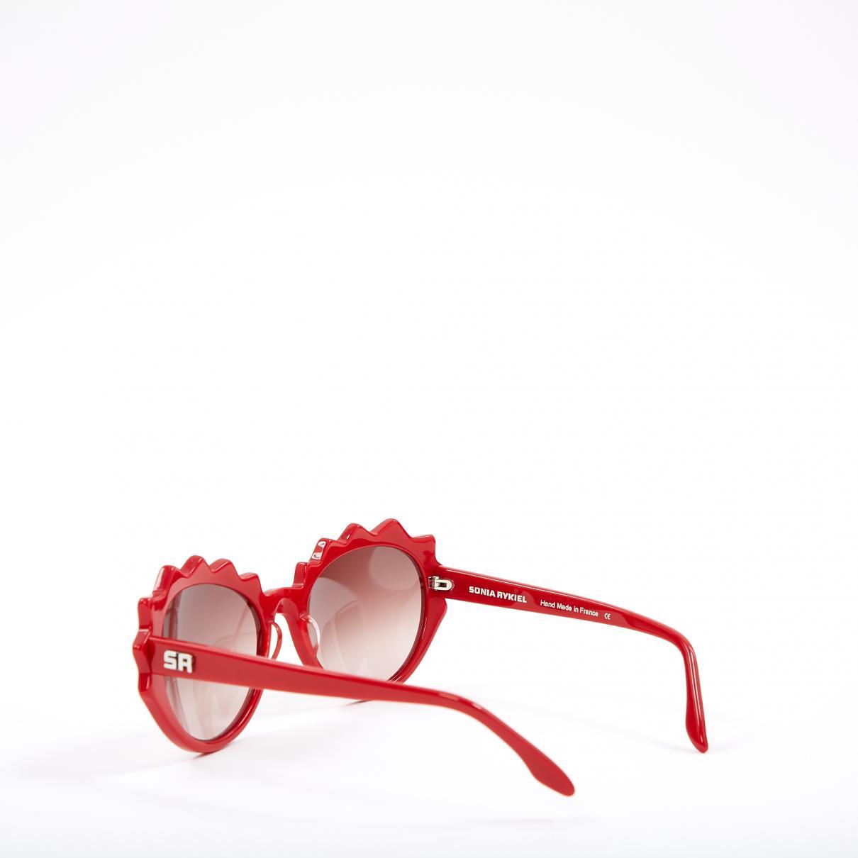 2af4922f18c7a Sonia Rykiel - Red Oversized Sunglasses - Lyst. View fullscreen