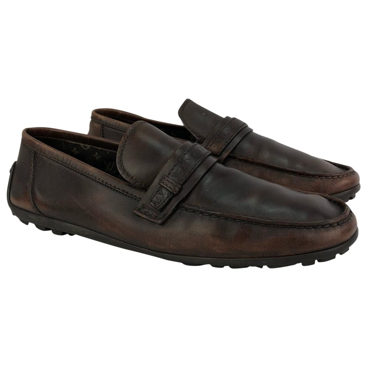 3ee4b242e804 Lyst - Louis Vuitton Leather Flats in Brown for Men