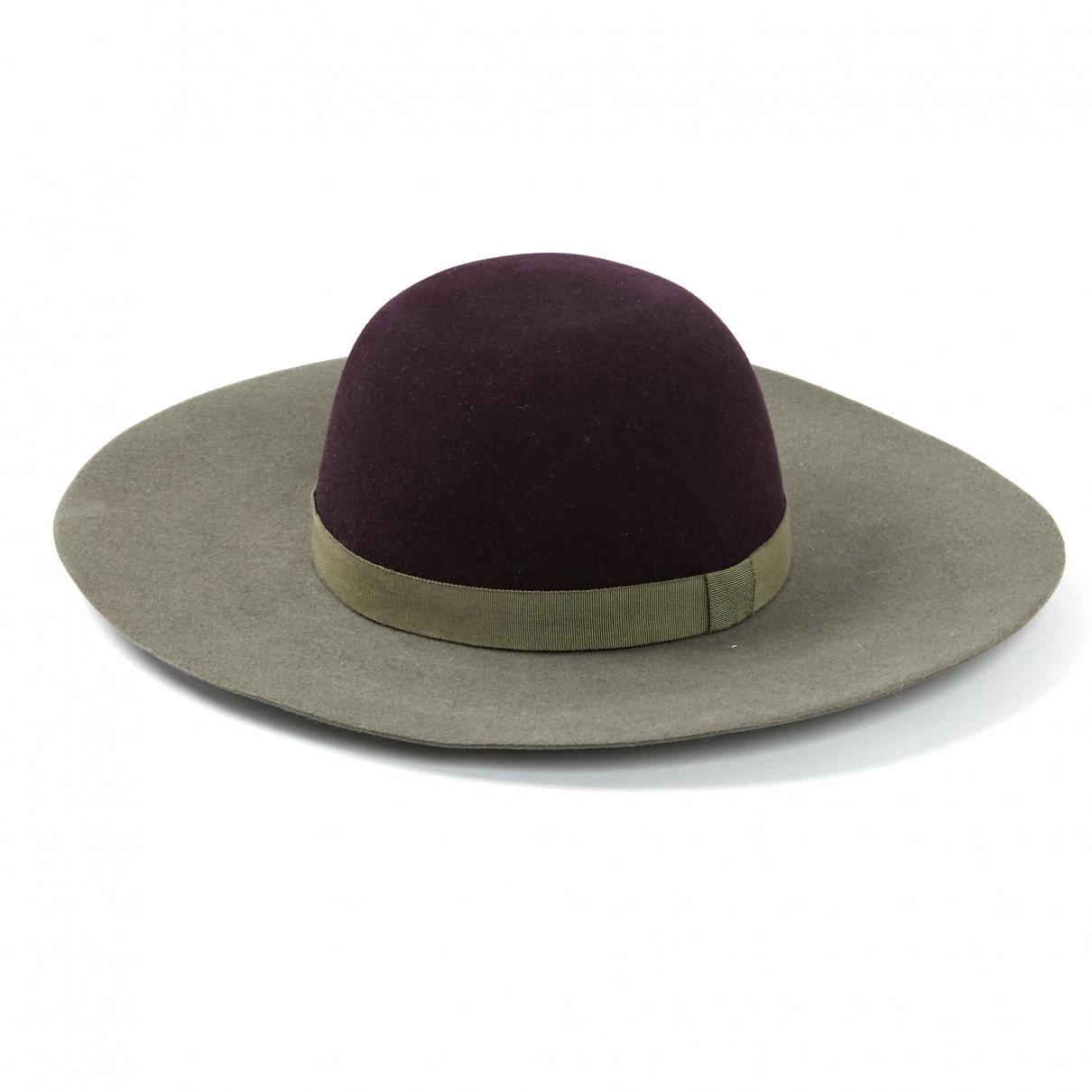 f05e8106fe9b4 Chanel Rabbit Hat in Gray - Lyst