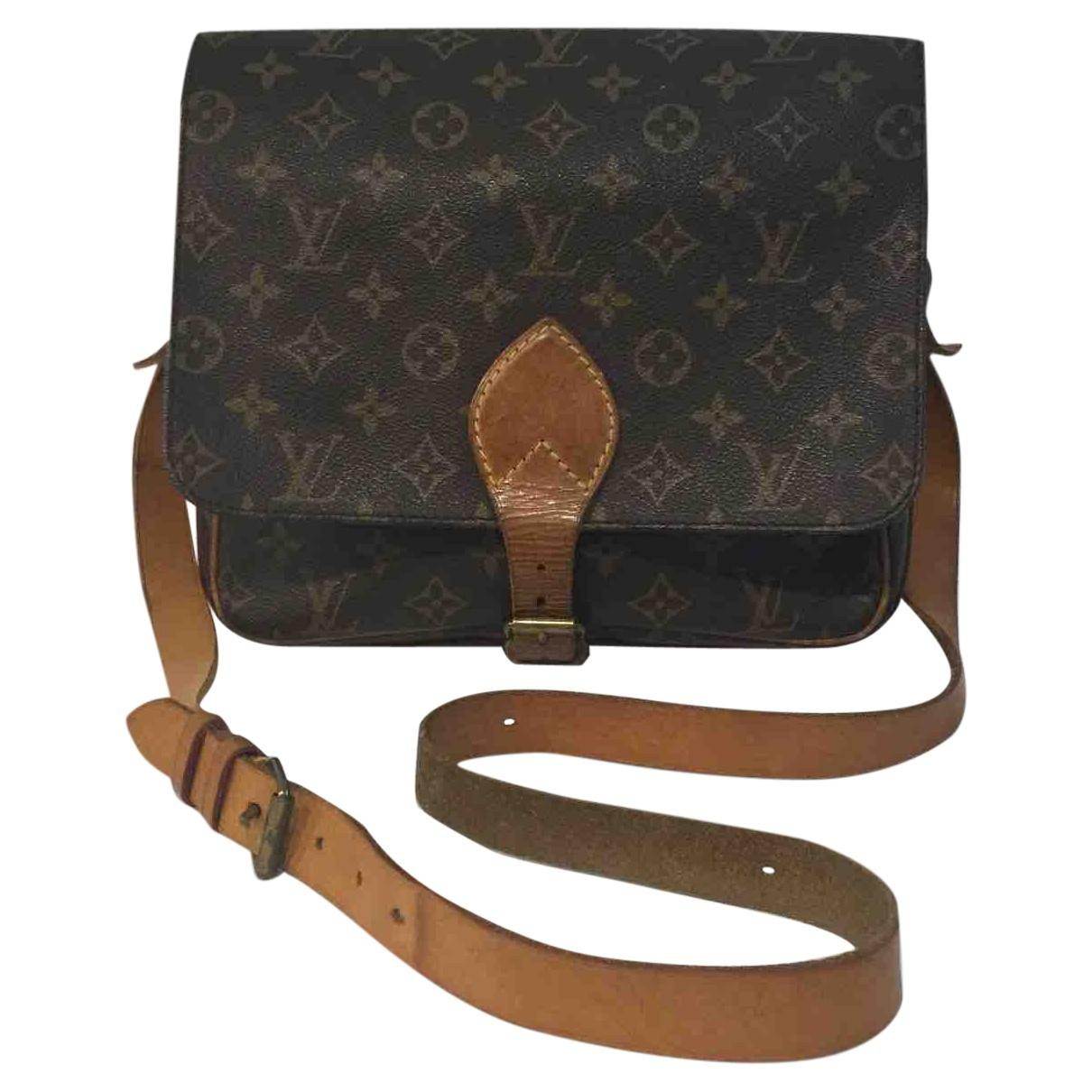 6af5b09df8b3 Louis Vuitton Pre-owned Brown Cloth Handbag in Brown - Lyst