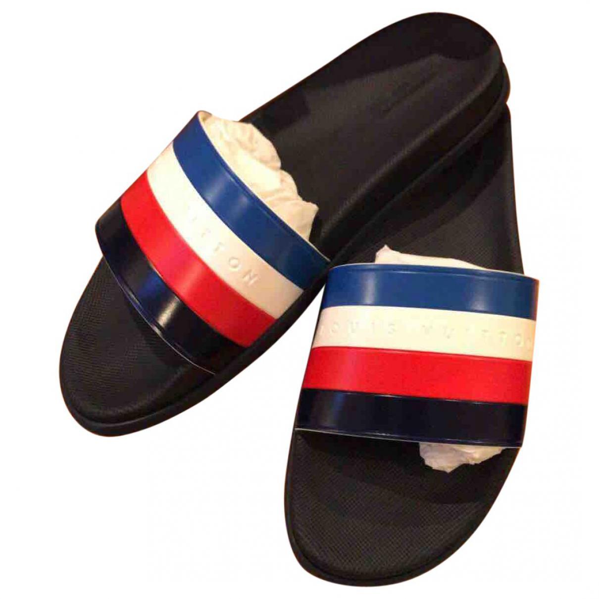 2a3da378169a Louis Vuitton Pre-owned Sandals in Blue for Men - Lyst