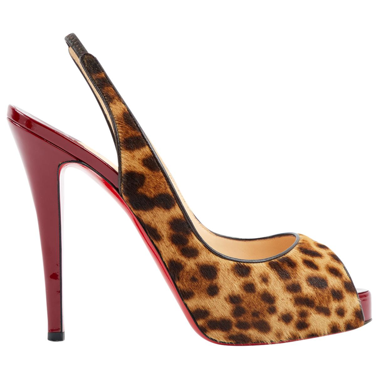 Pre-owned - Private Number pony-style calfskin heels Christian Louboutin pLf1oI