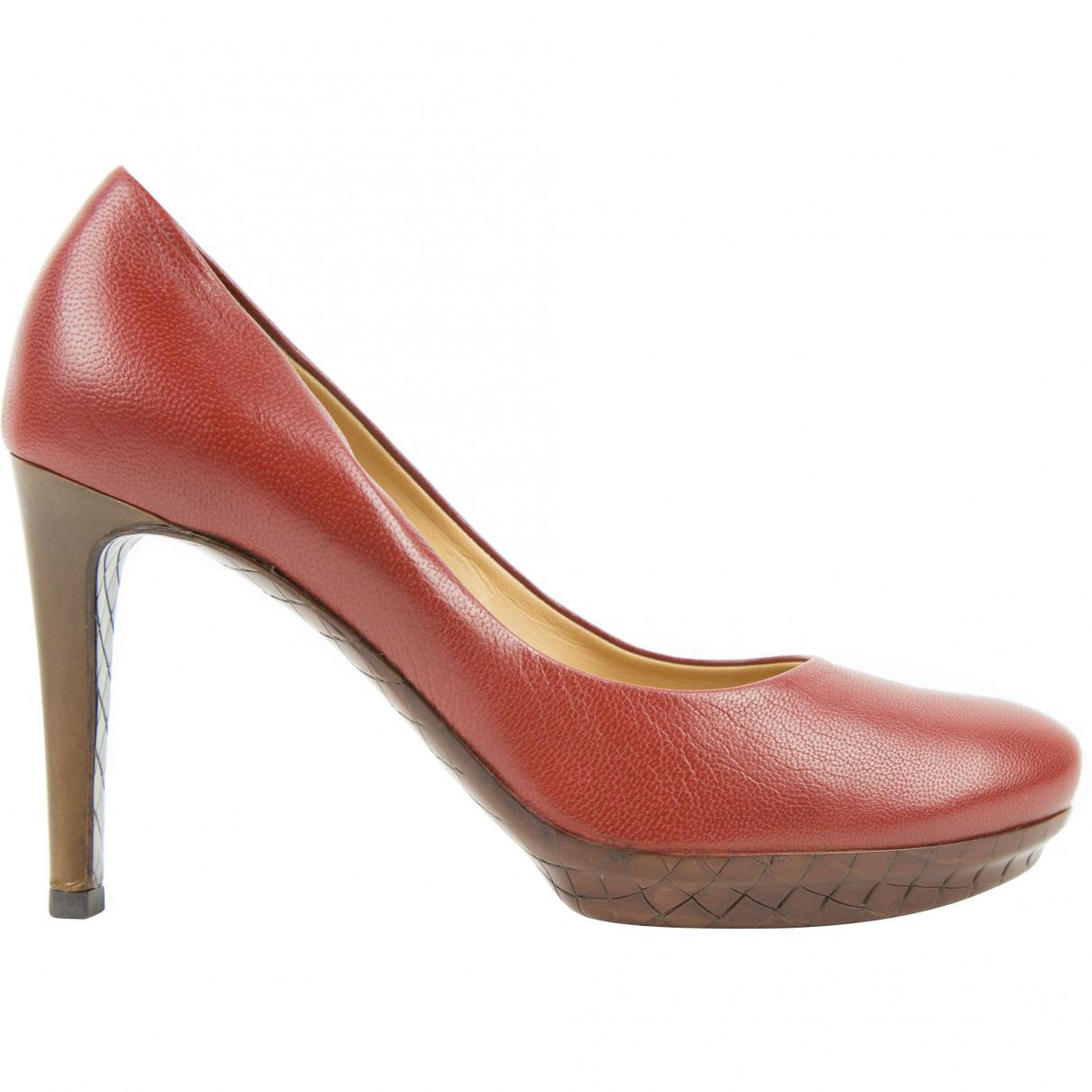 Pre-owned - Leather mid heel Bottega Veneta EHlMQN