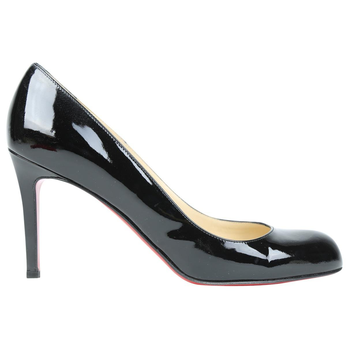 3df46d57ad Lyst - Christian Louboutin Pre-owned Simple Pump Patent Leather ...