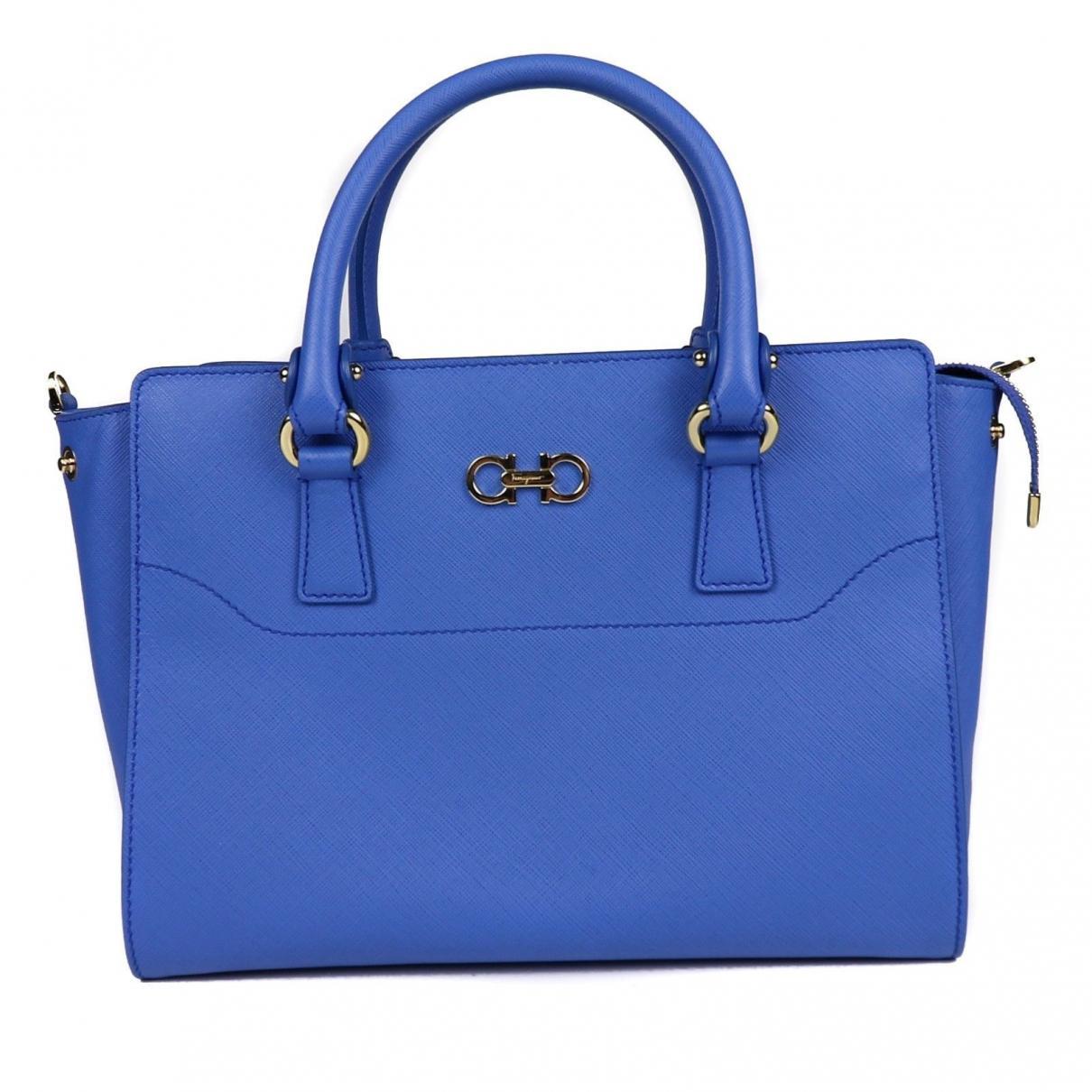 fb5401d939 Lyst - Ferragamo Leather Handbag in Blue