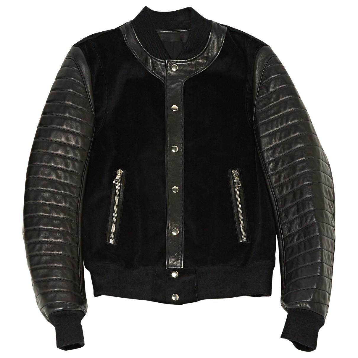 Noir Homme Veste Pour Balmain Coloris En Lyst Cuir WqOAZnRAw