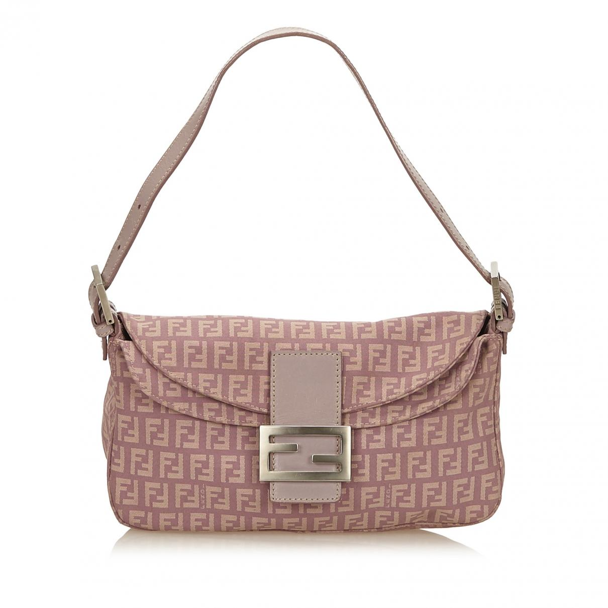 Baguette Pink Fendi In Lyst Handbag Cloth vN0w8OyPmn