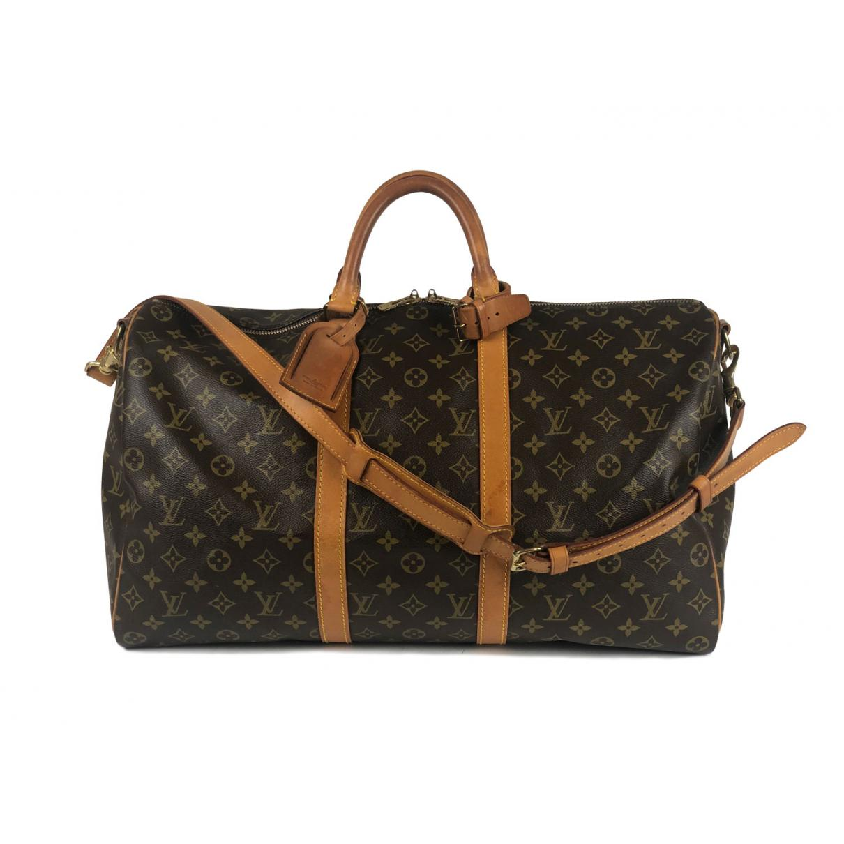 Lyst - Louis Vuitton Pre-owned Vintage Keepall Brown Cloth Bag in ... 0b42242a267bb