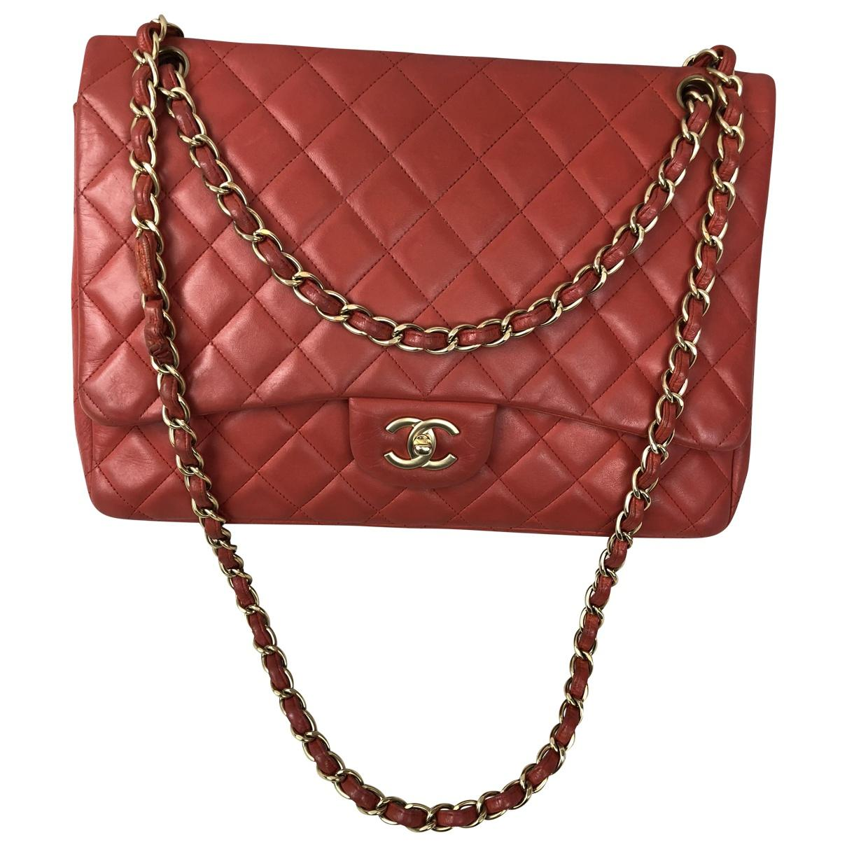 29a232636739 Lyst - Chanel Timeless Leather Crossbody Bag in Red