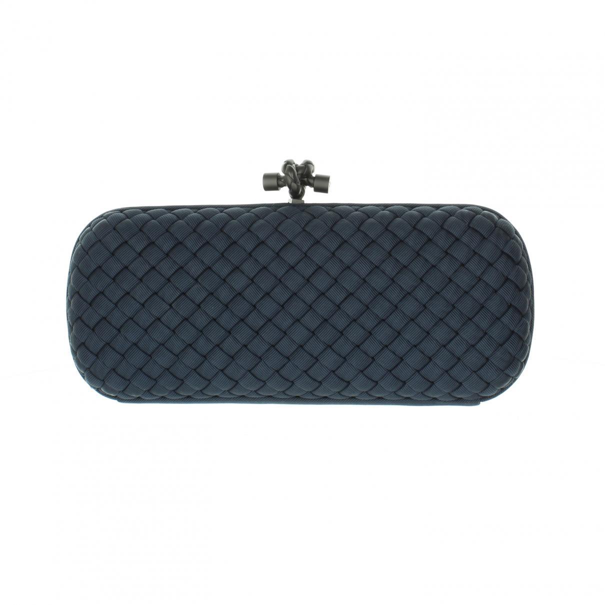 9fd07289485c Bottega Veneta - Blue Cloth Clutch Bag - Lyst. View fullscreen