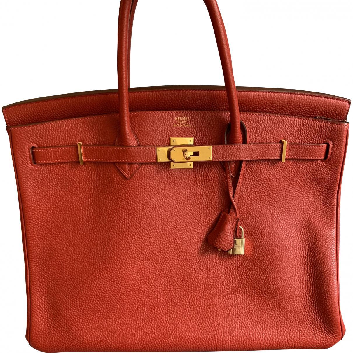 1d1c5cbe46 Hermès. Women s Red Pre-owned Birkin 40 Leather Handbag. £6
