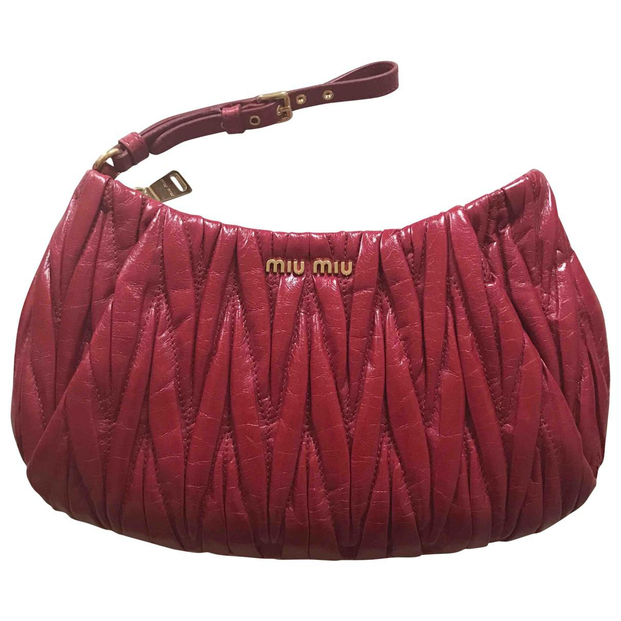Pre-owned - Matelassé leather clutch bag Miu Miu kXAucdDcN