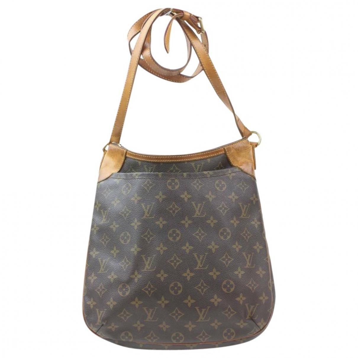 13e2bcbbd618 Lyst - Louis Vuitton Odéon Cloth Crossbody Bag in Brown