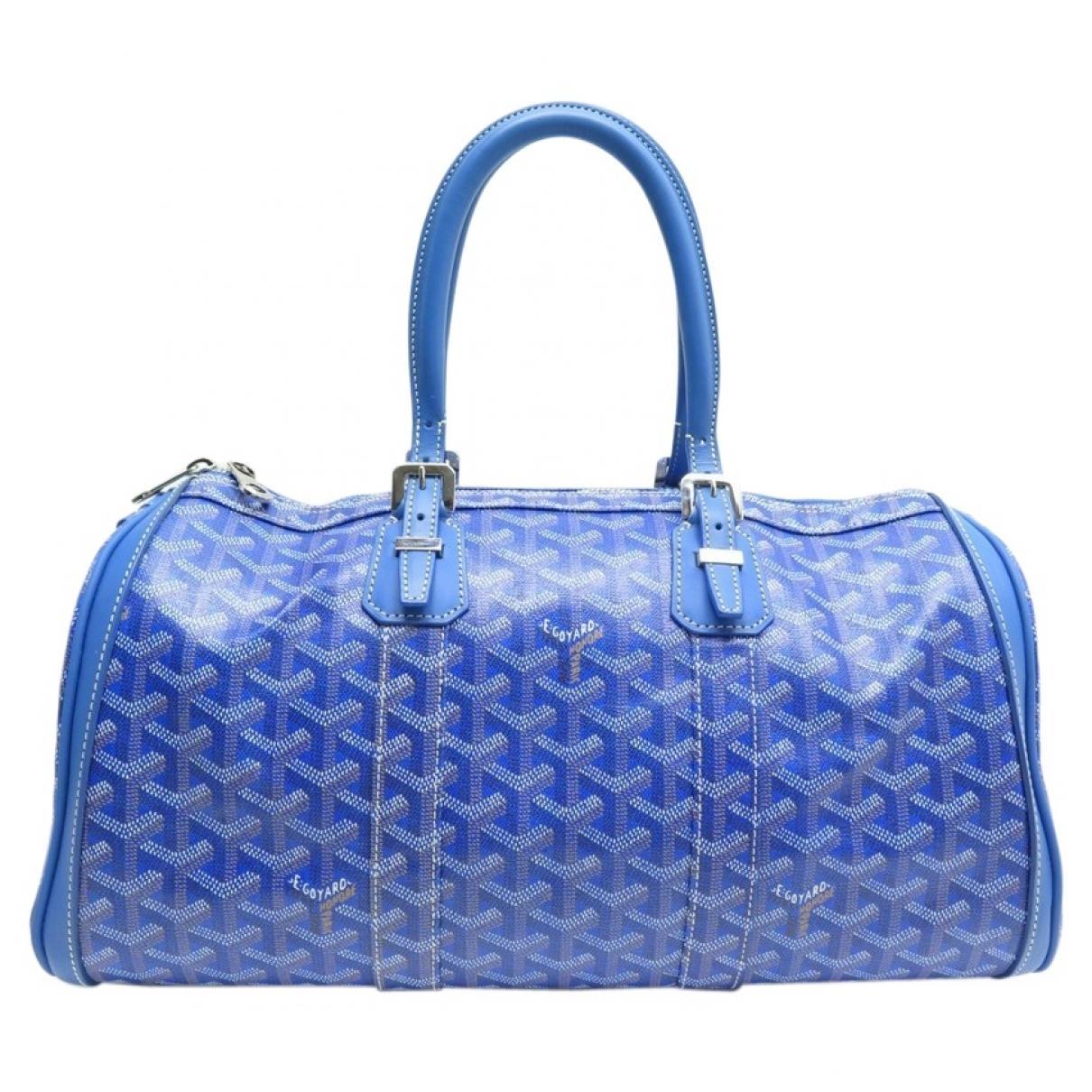 b4d400990 Goyard Croisière Blue Cloth Travel Bag in Blue - Lyst