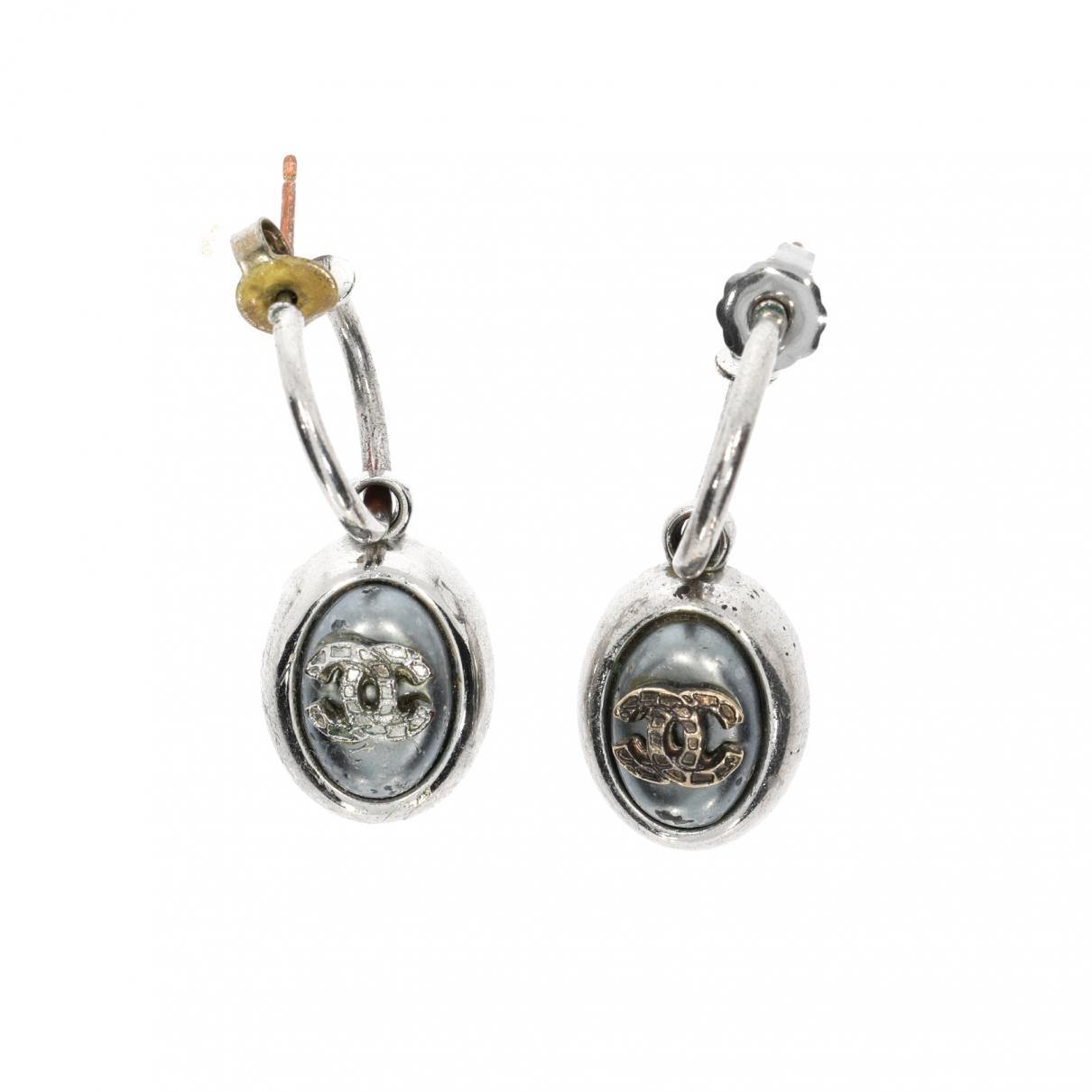 23270dc0cc1cee Lyst - Chanel Earrings in Metallic