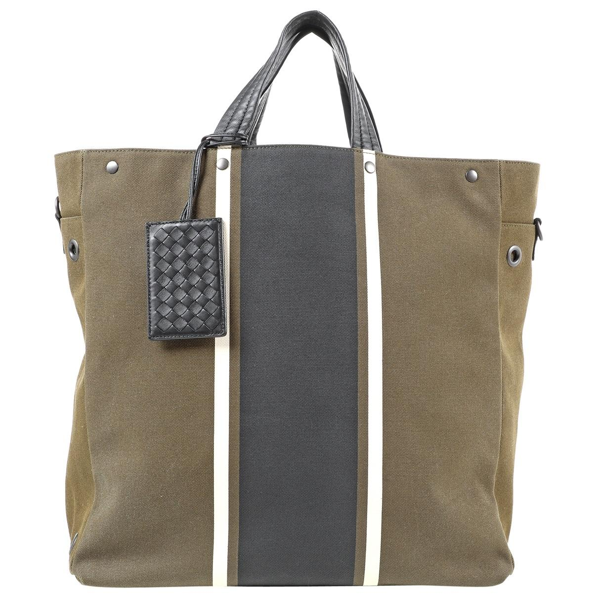 ec7a52d5a3 Bottega Veneta Khaki Cloth Bag in Natural for Men - Lyst