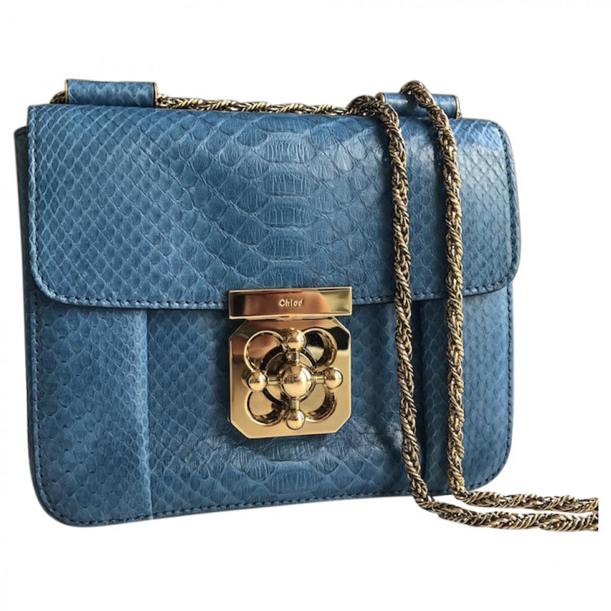 349e0a72a067 Chloé Pre-owned Elsie Python Crossbody Bag in Blue - Lyst