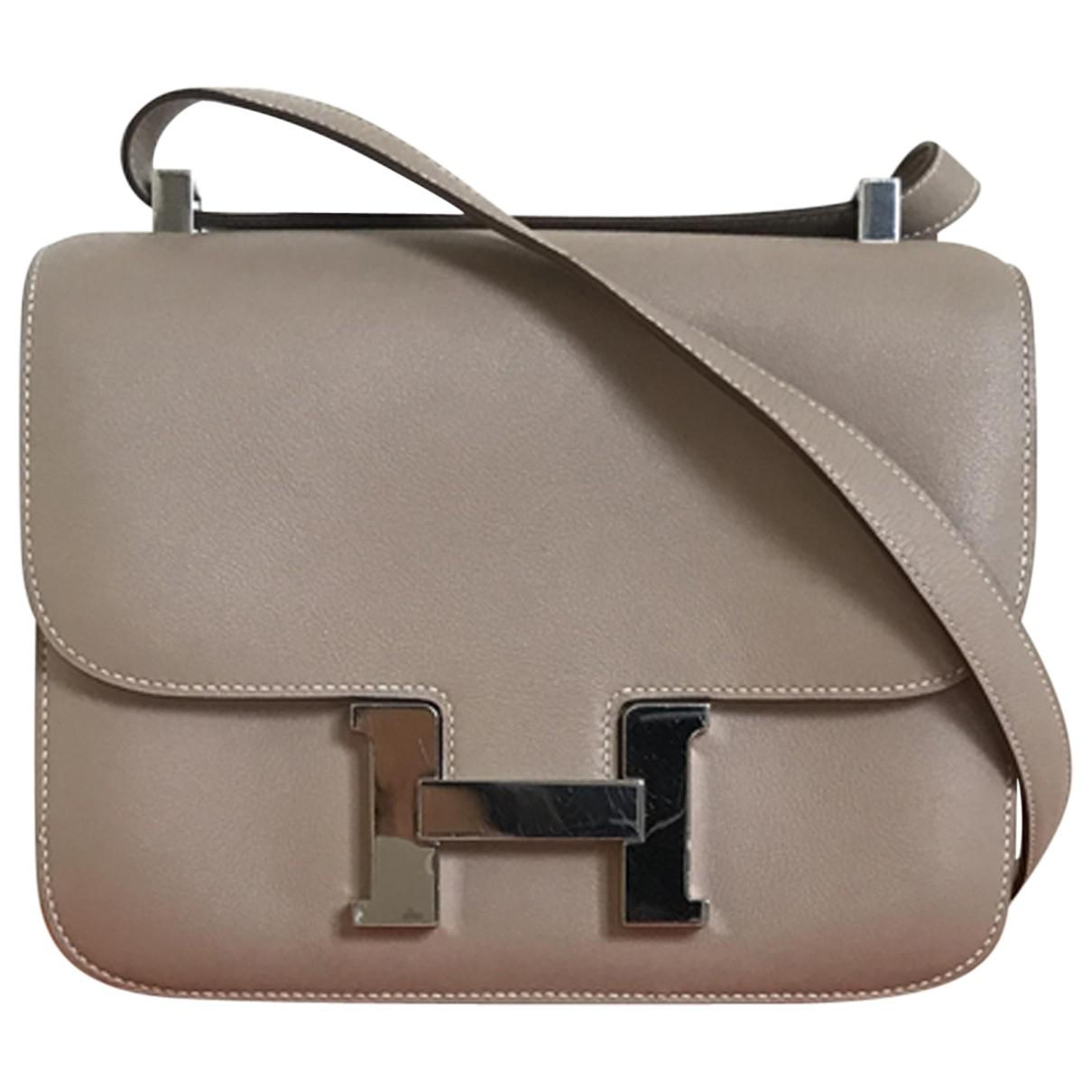 7df3744a5b ... order hermès. womens natural pre owned constance leather crossbody bag  ab903 6d655
