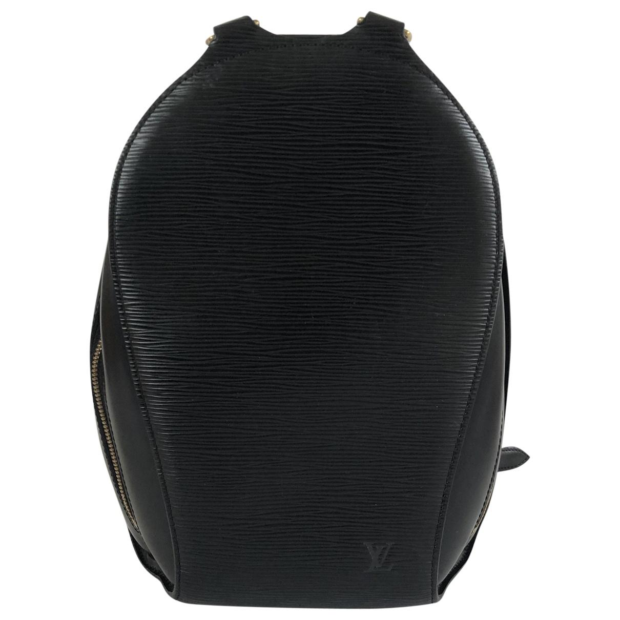 Lyst - Louis Vuitton Vintage Montsouris Black Leather Backpacks in Black ab29e0b3039f6