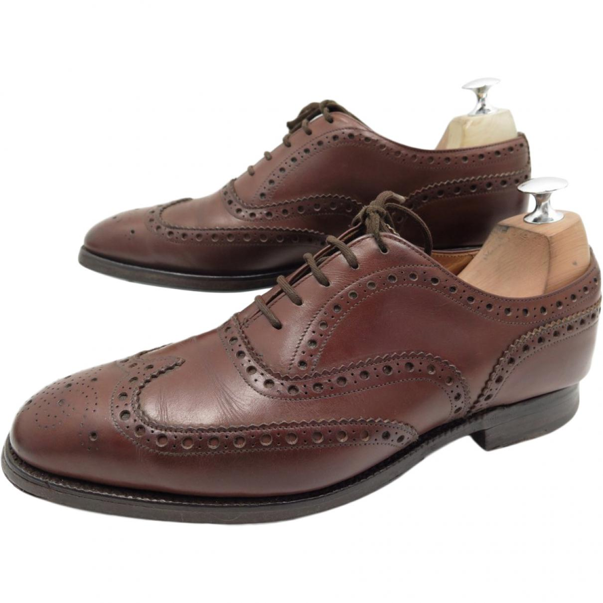 Pre-owned - Brown Leather Lace ups Churchs