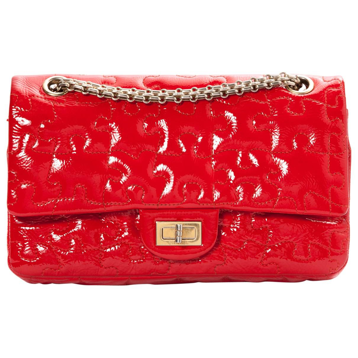 Chanel Women S Pre Owned Red Patent Leather Handbags