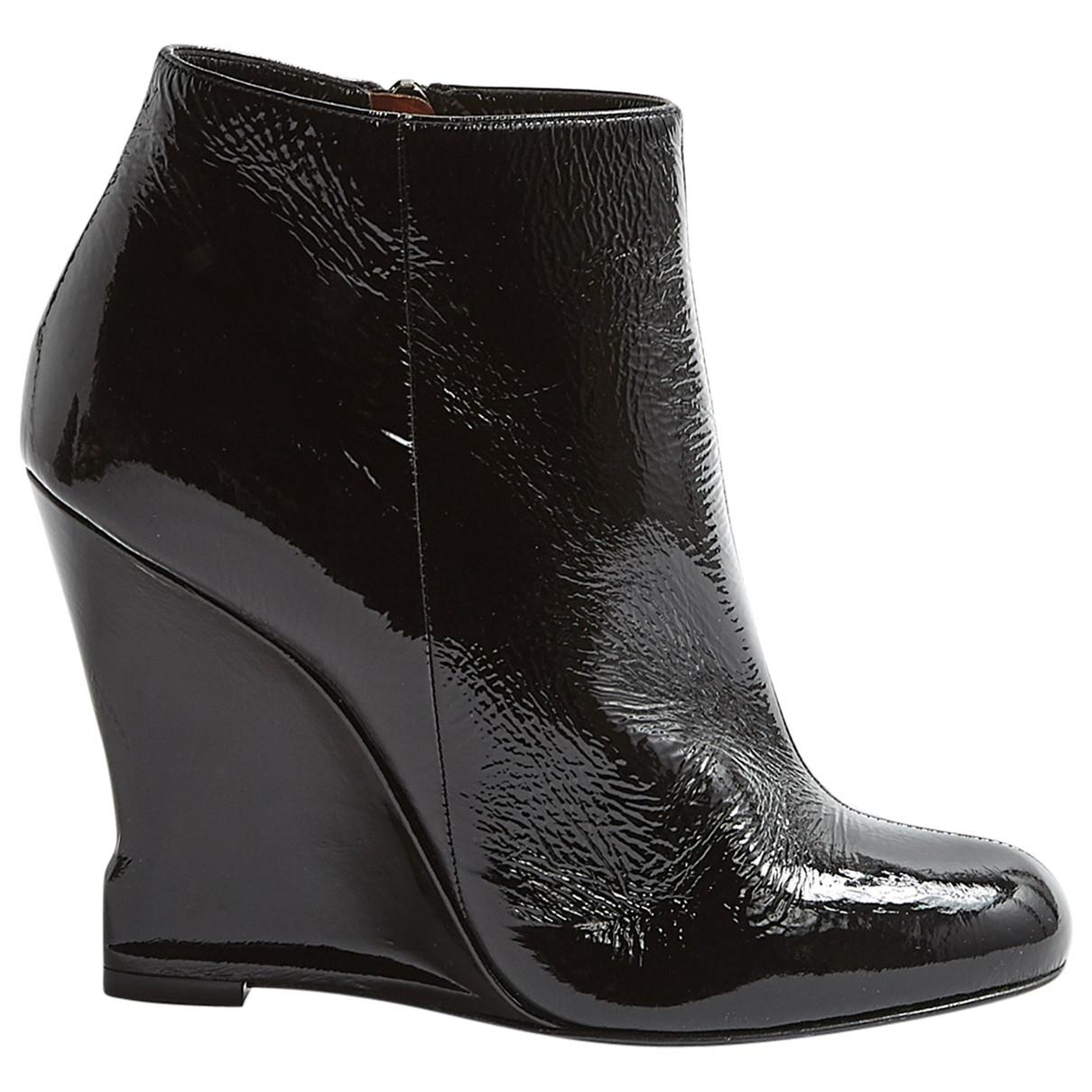Explore Pre-owned - Black Patent leather Boots Lanvin For Sale Discount Sale Under 70 Dollars awwaS