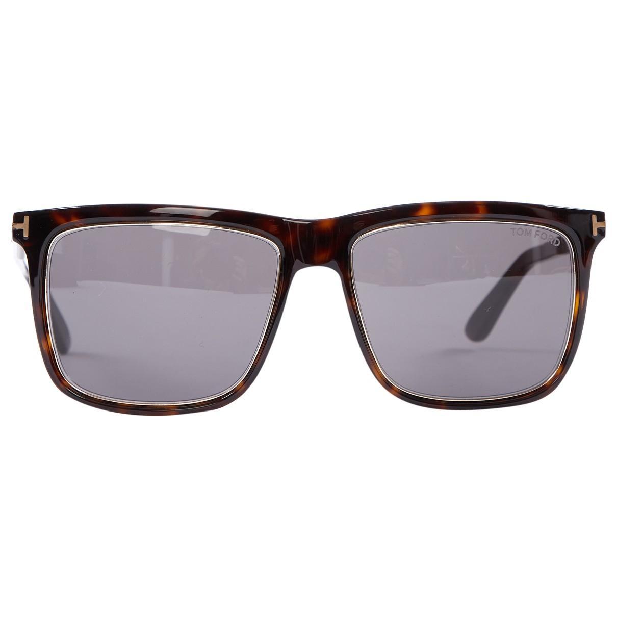 e8e6a45f26 Tom Ford Oversized Sunglasses in Brown - Lyst