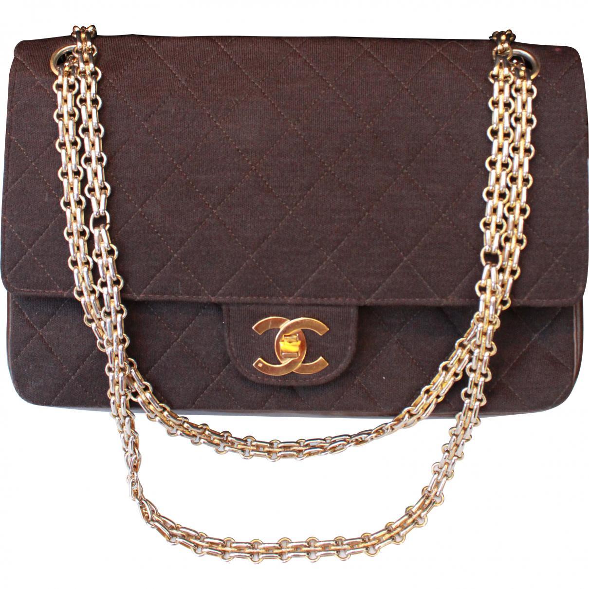 b4ee12d8dc Sac à main Timeless Chanel en coloris Marron - Lyst