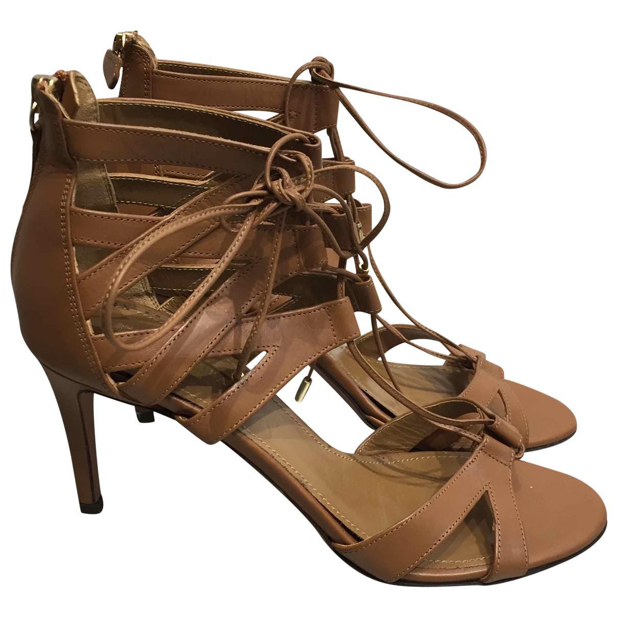 Pre-owned - Leather sandals Aquazzura lYfdYhJd7
