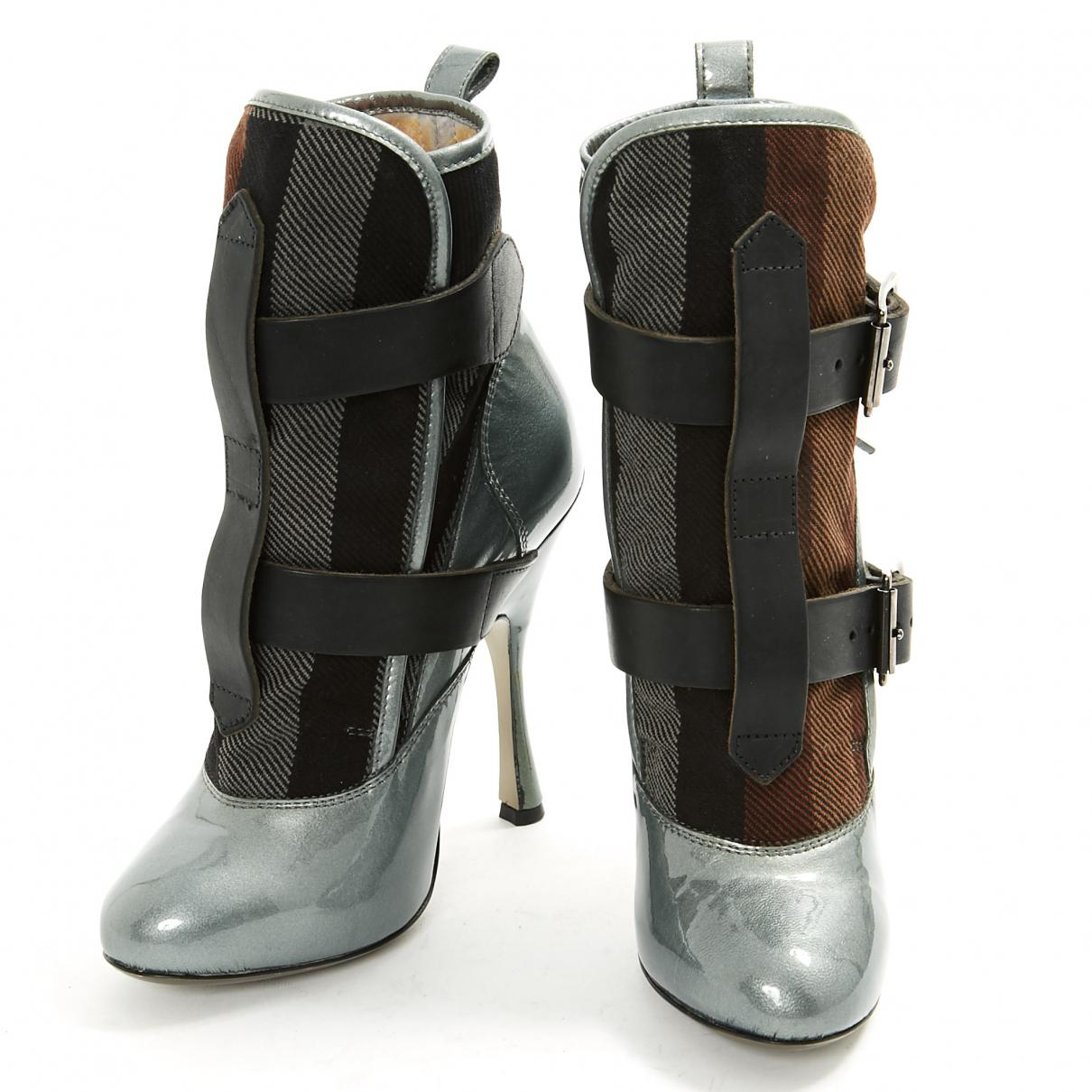 Outlet Exclusive Pre-owned - Patent leather buckled boots Vivienne Westwood Good Selling aY54g