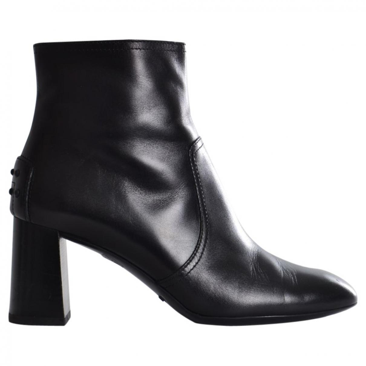 Pre-owned - Leather ankle boots Tod's CcL05