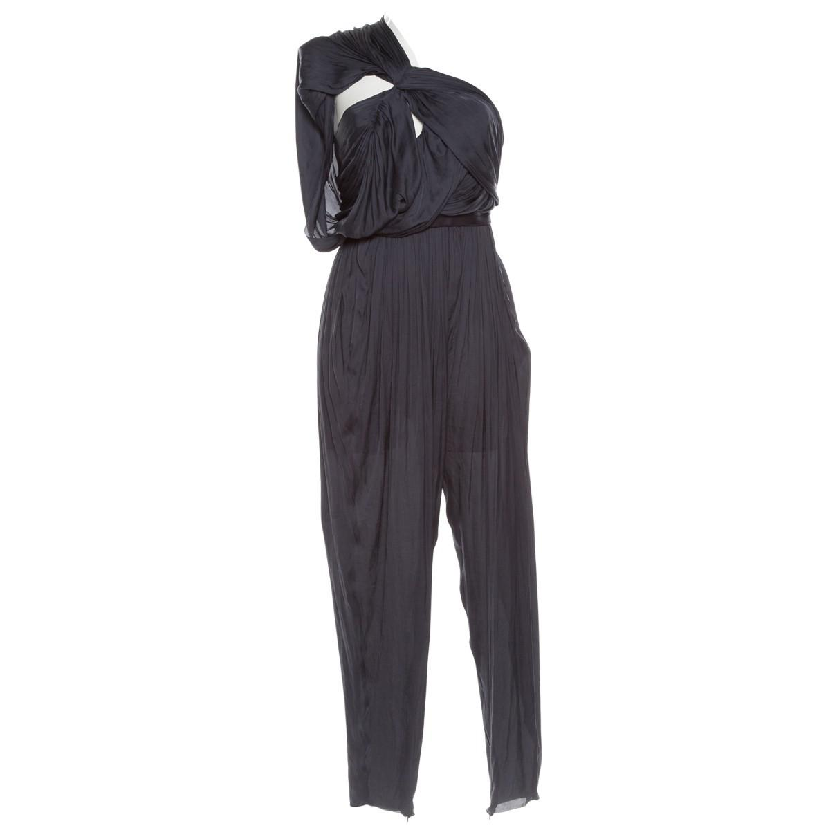 1dbb327b47 Lanvin. Women s Blue Pre-owned Navy Polyester Jumpsuits.  273 From Vestiaire  Collective ...