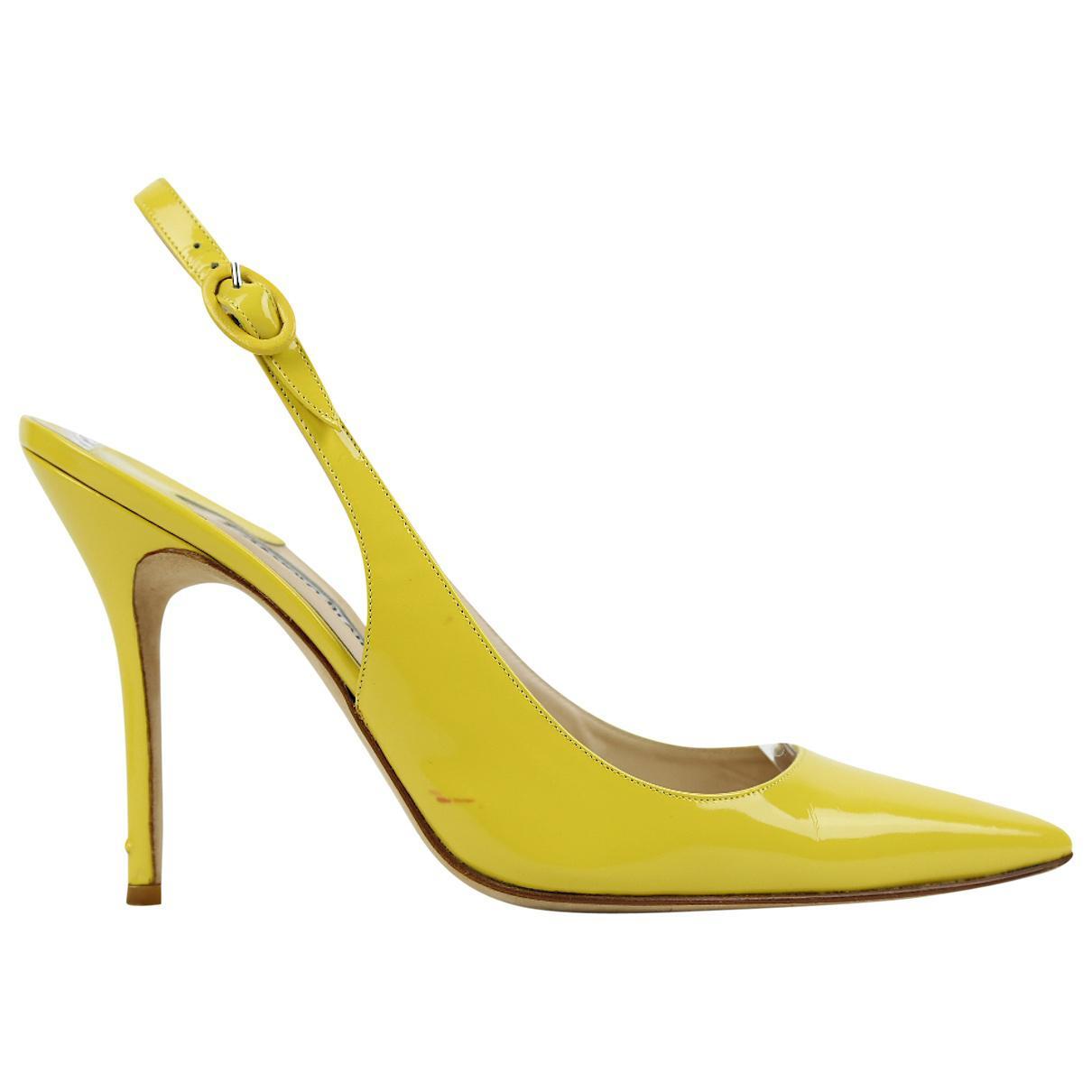 Pre-owned - Patent leather heels Manolo Blahnik MI9gMejA